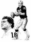 Jim Plunkett Oakland Raiders Limited Edition Lithograph