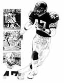 Mel Blount Pittsburgh Steelers Limited Edition Lithograph