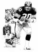 Rocky Bleier Pittsburgh Steelers Limited Edition Lithograph
