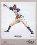 Satchel Paige Kansas City Monarchs Lithograph