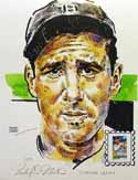 Hank Greenberg Detroit Tigers Print with Baseball Sluggers Stamp