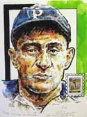Honus Wagner Pittsburgh Pirates Print with Legends of Baseball Stamp