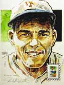 Mel Ott New York Giants Print with Baseball Sluggers Stamp