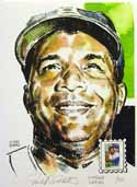 Roy Campanella Brooklyn Dodgers Print with Baseball Sluggers Stamp