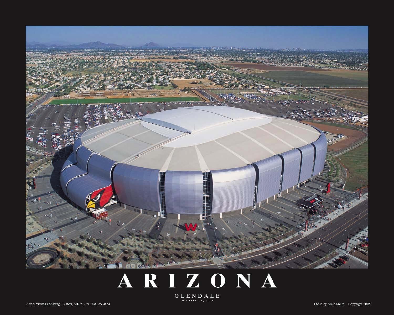 University of phoenix stadium arizona cardinals aerial print for The glendale