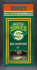 Framed Seattle Supersonics Championship Banner