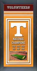 Framed Tennessee Volunteers Championship Banner