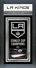 Framed Los Angeles Kings Stanley Cup Championship Banner