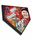 Mike Trout Los Angeles Angels Home Plate Plaque