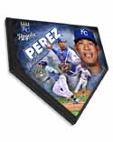 Salvador Perez Kansas City Royals Home Plate Plaque