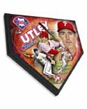Chase Utley Philadelphia Phillies Home Plate Plaque
