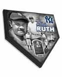 Babe Ruth New York Yankees Home Plate Plaque