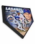 Juan Lagares New York Mets Home Plate Plaque