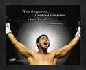 Framed Muhammad Ali Boxing Pro Quotes