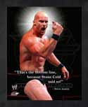Framed Stone Cold Steve Austin WWE Pro Quotes