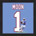 Framed Warren Moon Houston Oilers Uniframe