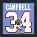 Framed Earl Campbell Houston Oilers Uniframe