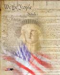 Flag/Constitution Collage  Photo