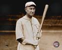 Ty Cobb - posed with bat (sepia). 1927 Philadelphia Athletics Photo