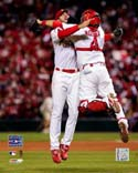 Yadier Molina & Adam Wainwright St. Louis Cardinals Photo