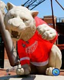 Tiger Statues Detroit Red Wings Photo