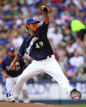 Yovanni Gallardo Milwaukee Brewers Photo
