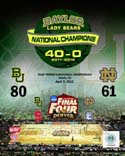 Baylor University Lady Bears 2012 NCAA Women's Final Four College Basketball National Champions Composite Baylor Bears Photo