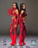 Cameron Lynn and Naomi 2012 Posed WWE Photo