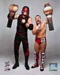 Daniel Bryan & Kane with the Tag Team Championship Belts 2012 Posed WWE Photo