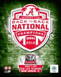 Back to Back Champs Alabama Crimson Tide Photo