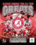 All Time Greats Alabama Crimson Tide Photo