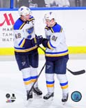 David Backes & Vladimir Tarasenko 2014-15 Action St. Louis Blues Photo