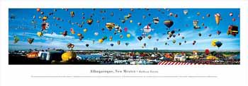Albuquerque, New Mexico-Balloon Fiesta Panoramic Print