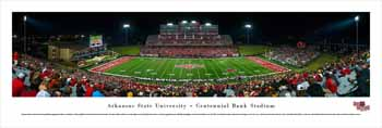 Arkansas State Red Wolves Panoramic - Centennial Bank Stadium Picture