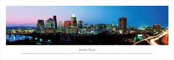 Austin, Texas Panoramic Print