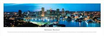 Baltimore, Maryland Panoramic Print
