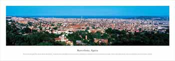 Barcelona, Spain Panoramic Print