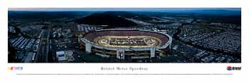 Briston Motor Speedway (Night) Panoramic Print