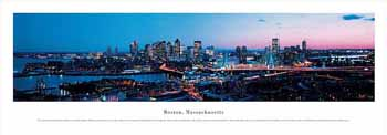 Boston, Massachusetts Panoramic Print