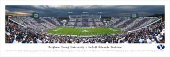 Brigham Young Cougars Football Panoramic - Lavell Edwards Stadium Picture