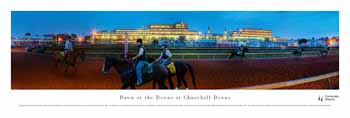 Dawn At Churchill Downs Panoramic Print