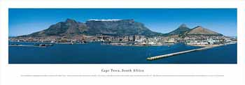 Cape Town, South Africa Panoramic Print