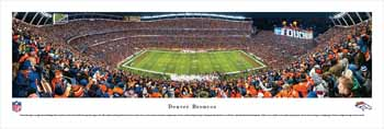 Denver Broncos Panoramic - Mile High Stadium Picture