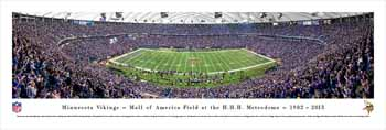 Minnesota Vikings Panoramic - Metrodome Picture