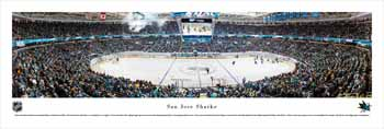 San Jose Sharks Panoramic Picture - Shark Tank Poster
