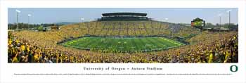 Oregon Ducks Panoramic Picture - Autzen Stadium Panorama