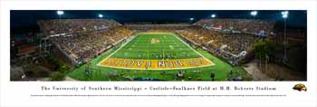 Southern Miss Golden Eagles Panoramic Picture - M.M. Roberts Stadium Panorama