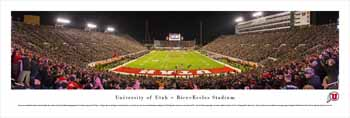 Utah Utes Football Panoramic - Rice-Eccles Stadium Picture