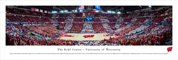 Wisconsin Badgers Basketball Panoramic - Kohl Center Picture
