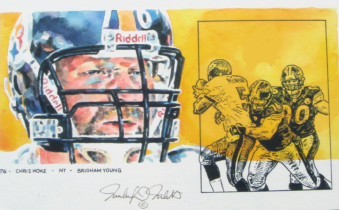 Chris Hoke Pittsburgh Steelers Print